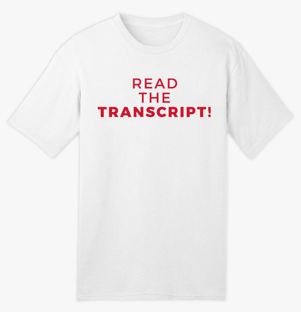 Read The Transcript Tee