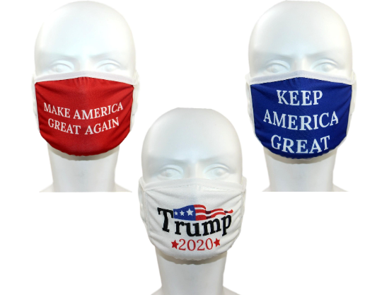 Donald Trump Face Mask 3-PACK Variety Safety Washable...