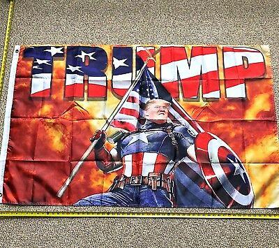 Donald Trump Flag FREE SHIPPING CAPTAIN AMERICA 3×5′...