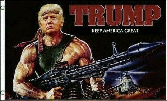 Trump 2020 Re-Elect Donald Trump Rambo Bazooka 3×5...
