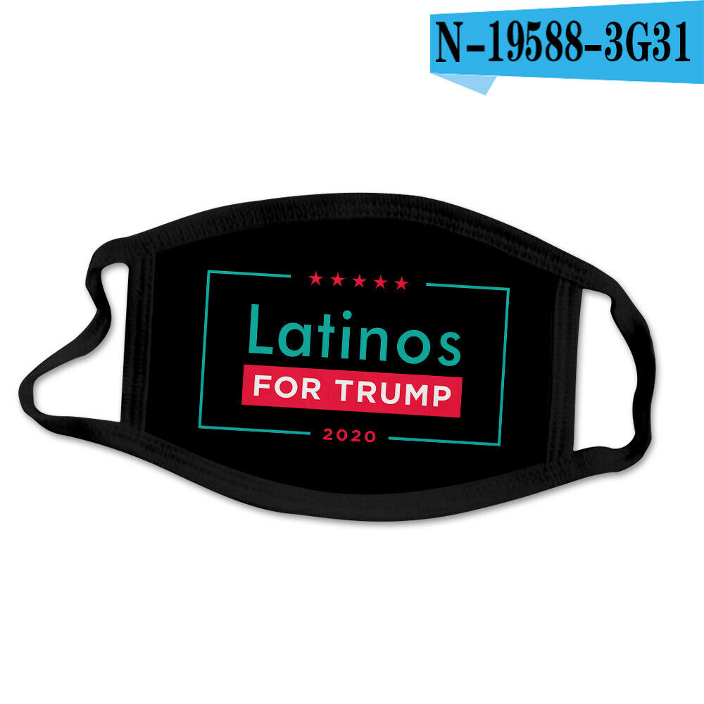 LATINOS FOR TRUMP Face Mask Trump 2020 Face Protection...