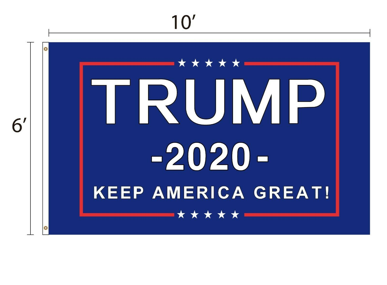 TRUMP Flag 2020 Keep America Great 5×8, 6×10,...