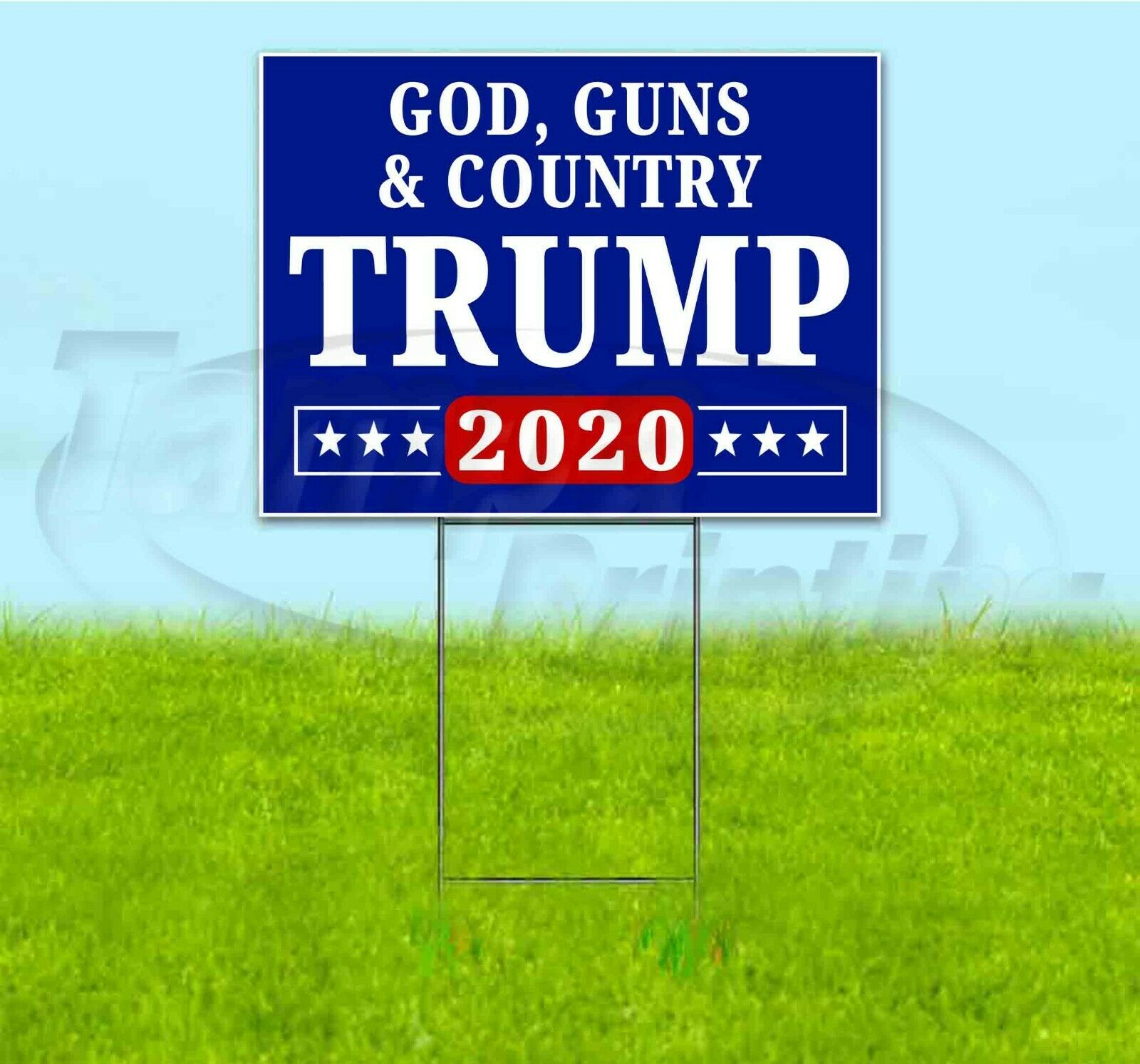 TRUMP GOD GUNS & COUNTRY 18×24 Yard Sign WITH...